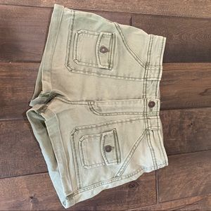 Abercrombie Green Cargo Shorts